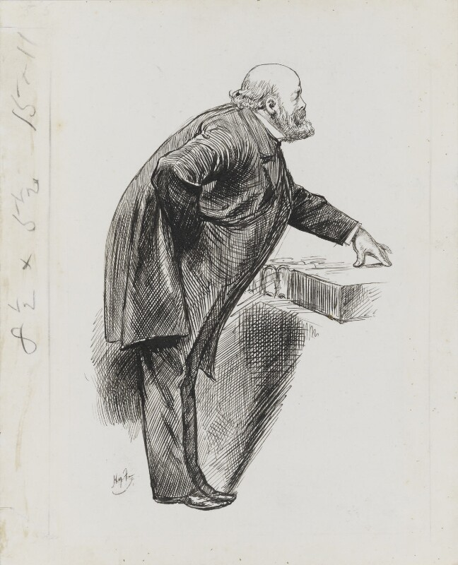 Robert Gascoyne-Cecil, 3rd Marquess of Salisbury, by Harry Furniss, 1891 - NPG 3411 - © National Portrait Gallery, London