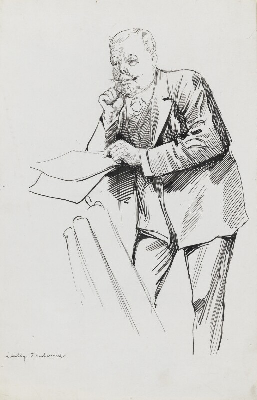 Linley Sambourne, by Harry Furniss, 1880s-1900s -NPG 3508 - © National Portrait Gallery, London