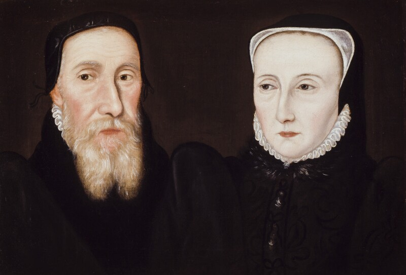 Edwin Sandys; Cicely Sandys (née Wilford), after Unknown artist, late 17th century, based on a work of 1571 - NPG 1268 - © National Portrait Gallery, London
