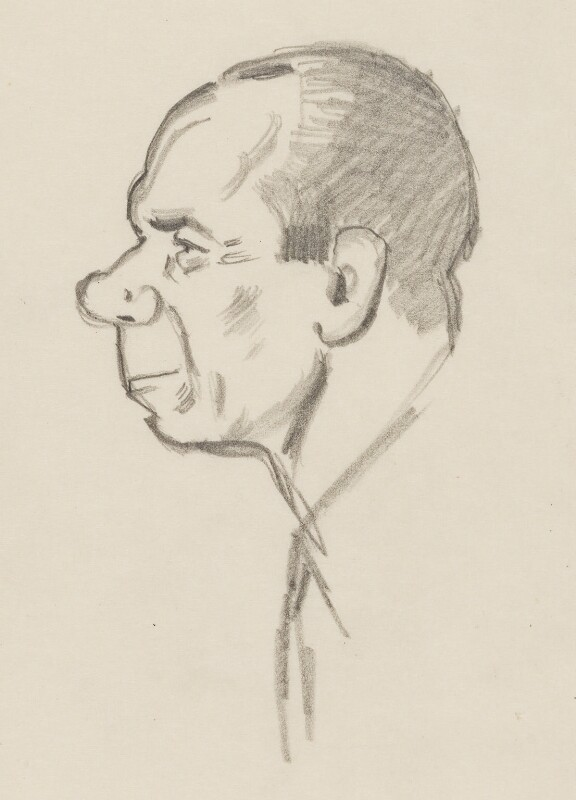 Malcolm Sargent, by Sir David Low, 1949 or before - NPG 4529(325) - © Solo Syndication Ltd