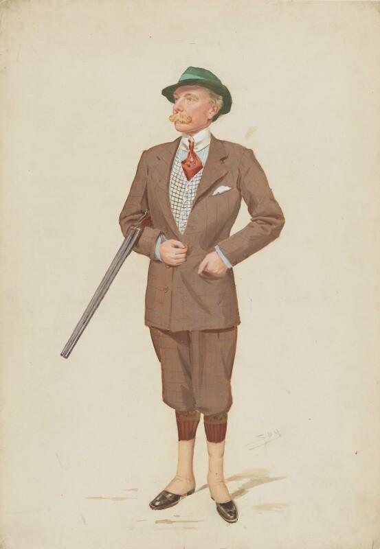John Lumley-Savile, 2nd Baron Savile, by Sir Leslie Ward, published in Vanity Fair 15 April 1908 - NPG 4608 - © National Portrait Gallery, London