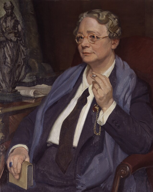 Dorothy Sayers, by Sir William Oliphant Hutchison, circa 1949-1950 - NPG 5146 - © National Portrait Gallery, London