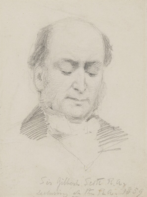 Sir George Gilbert Scott Sr, by Charles Bell Birch, 1859 -NPG 2475 - © National Portrait Gallery, London