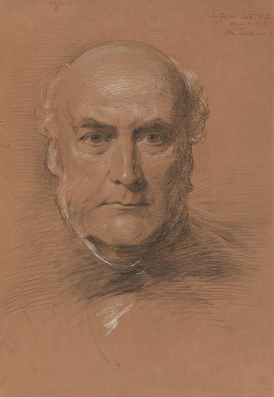 Sir George Gilbert Scott Sr, by George Richmond, 1877 -NPG 1061 - © National Portrait Gallery, London