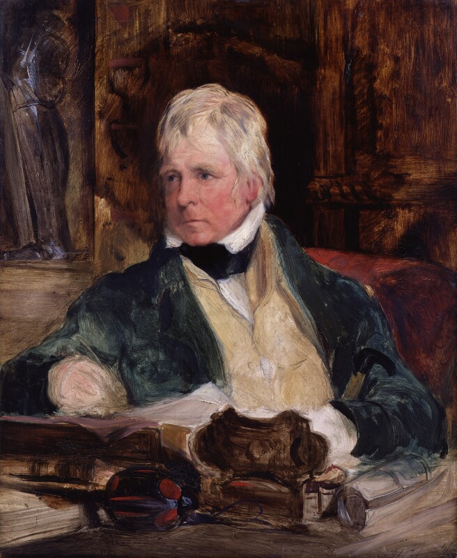 Sir Walter Scott, 1st Bt, by Edwin Landseer, circa 1824 -NPG 391 - © National Portrait Gallery, London