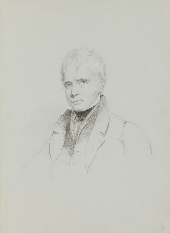 Sir Walter Scott, 1st Bt, by William Brockedon, circa 1830 - NPG 2515(30) - © National Portrait Gallery, London