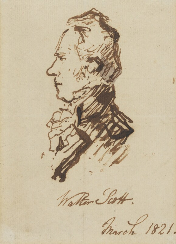 Unknown man, formerly known as Sir Walter Scott, 1st Bt, attributed to Sir Edwin Henry Landseer, 1821 - NPG 1650 - © National Portrait Gallery, London