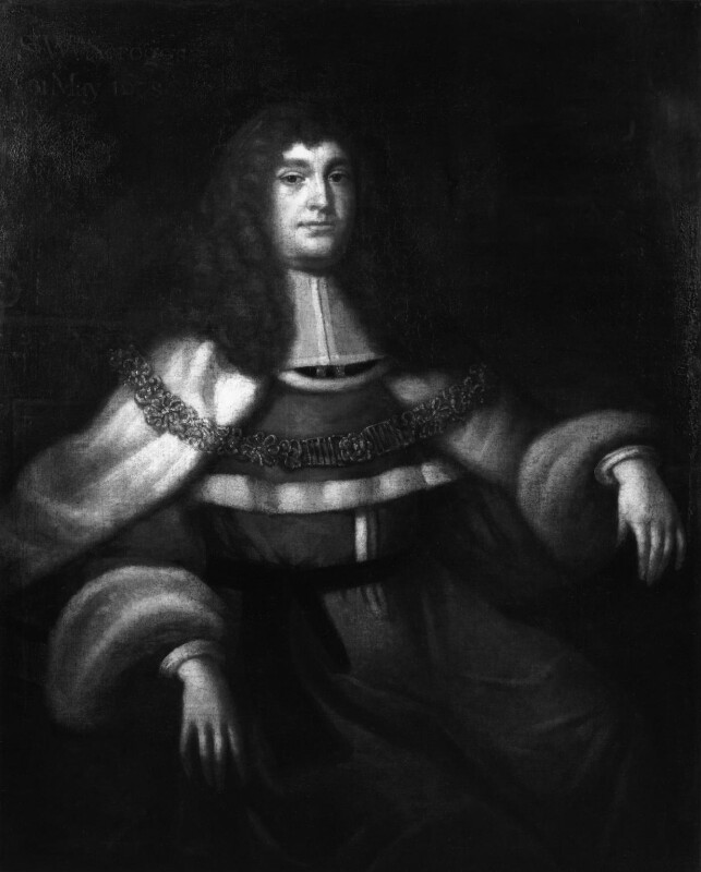 Sir William Scroggs, possibly after John Michael Wright, based on a work of 1678 - NPG 1850 - © National Portrait Gallery, London