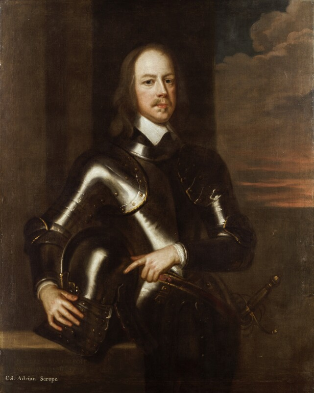 Adrian Scrope, by or after Robert Walker, 17th century? - NPG 4435 - © National Portrait Gallery, London