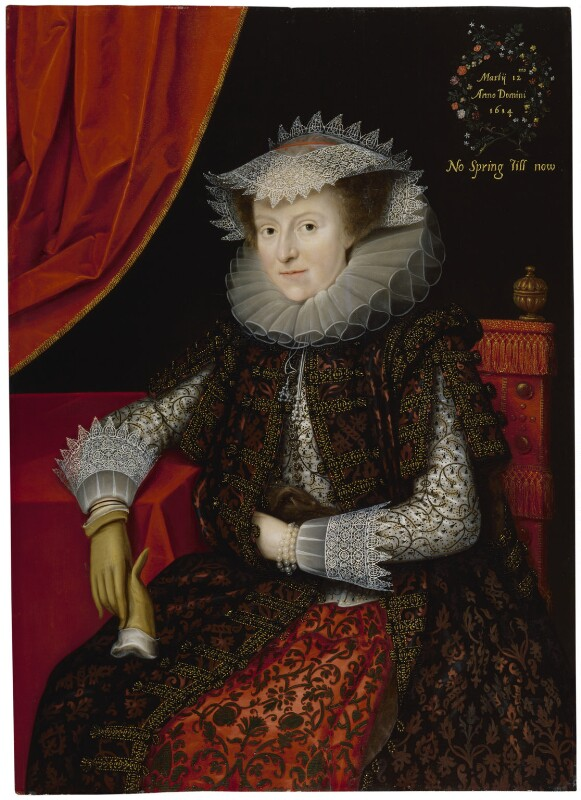 Probably Mary (née Throckmorton), Lady Scudamore, by Marcus Gheeraerts the Younger, 1615 - NPG 64 - © National Portrait Gallery, London