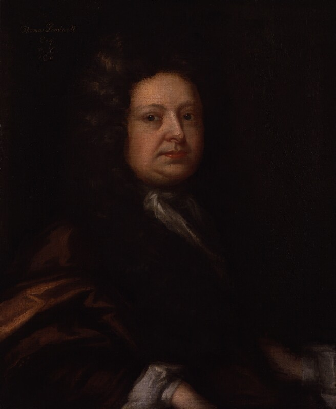 Thomas Shadwell, by Unknown artist, 1690 - NPG 4143 - © National Portrait Gallery, London