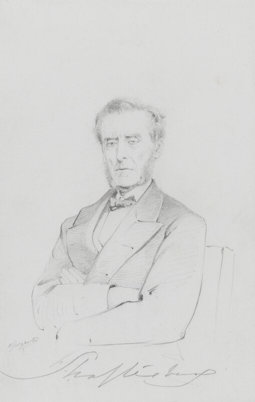 Anthony Ashley-Cooper, 7th Earl of Shaftesbury, by Frederick Sargent, 1870s - NPG 1834(cc) - © National Portrait Gallery, London