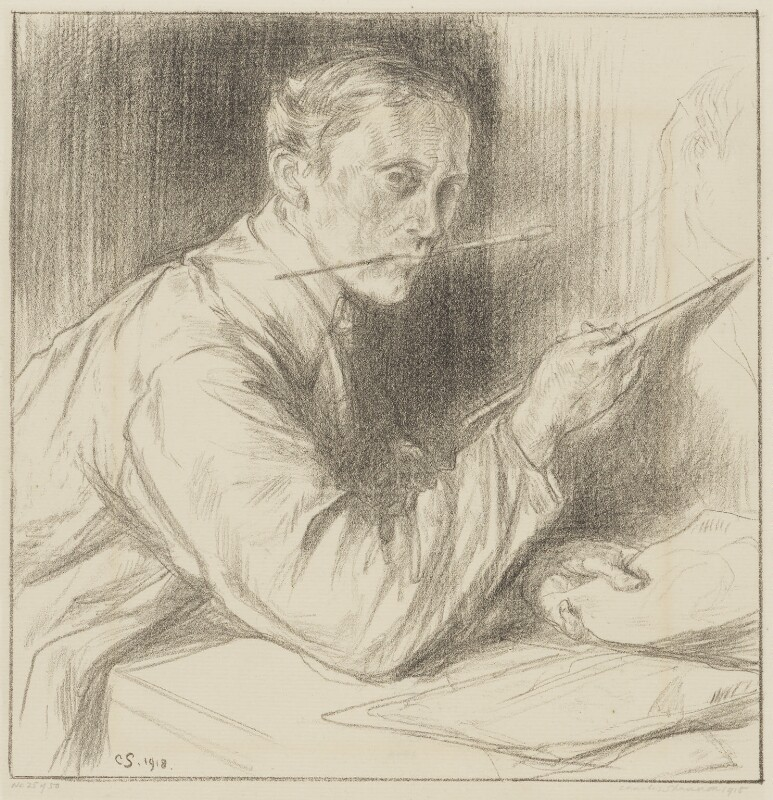 Charles Haslewood Shannon, by Charles Haslewood Shannon, 1918 - NPG 3081 - © National Portrait Gallery, London