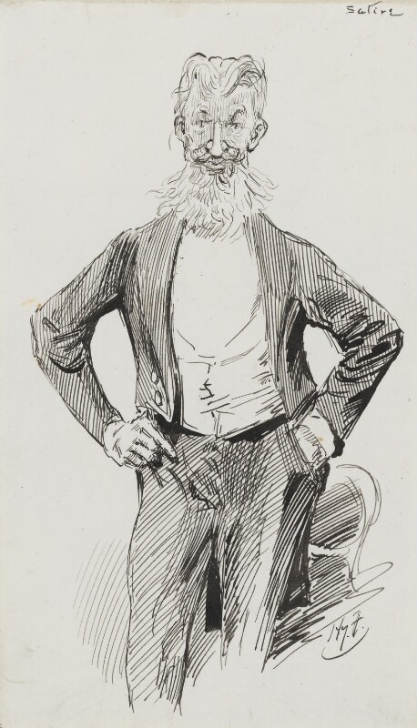 George Bernard Shaw, by Harry Furniss, 1880s-1900s - NPG 3604 - © National Portrait Gallery, London