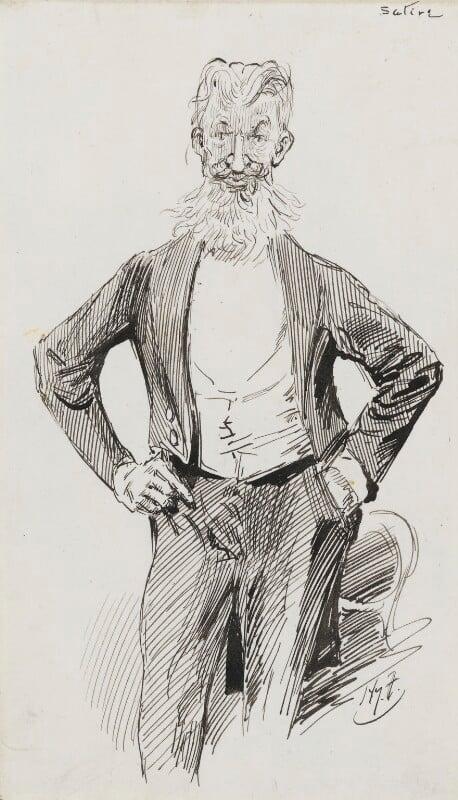 George Bernard Shaw, by Harry Furniss, 1880s-1900s - NPG 3604 - © National Portrait Gallery, London