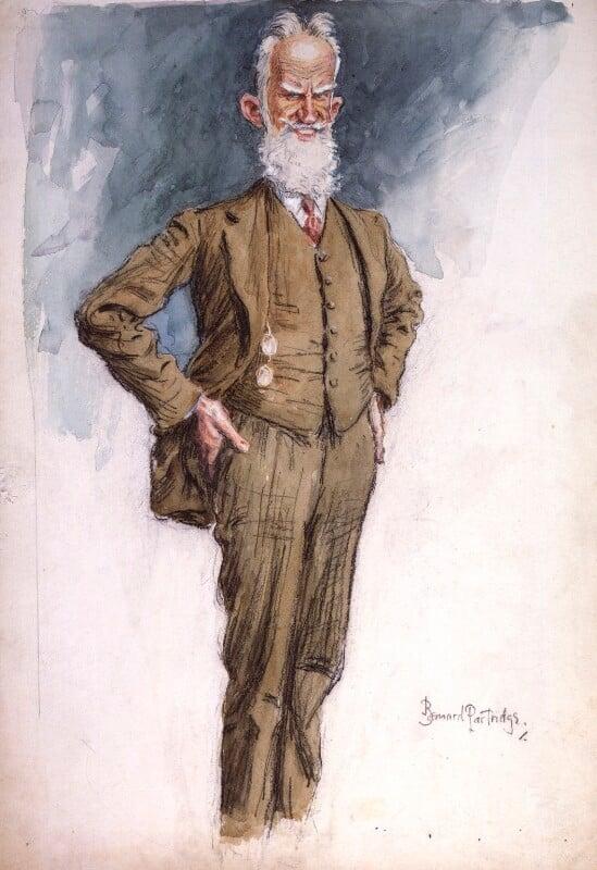 George Bernard Shaw, by Sir (John) Bernard Partridge, circa 1925 - NPG 4228 - © National Portrait Gallery, London