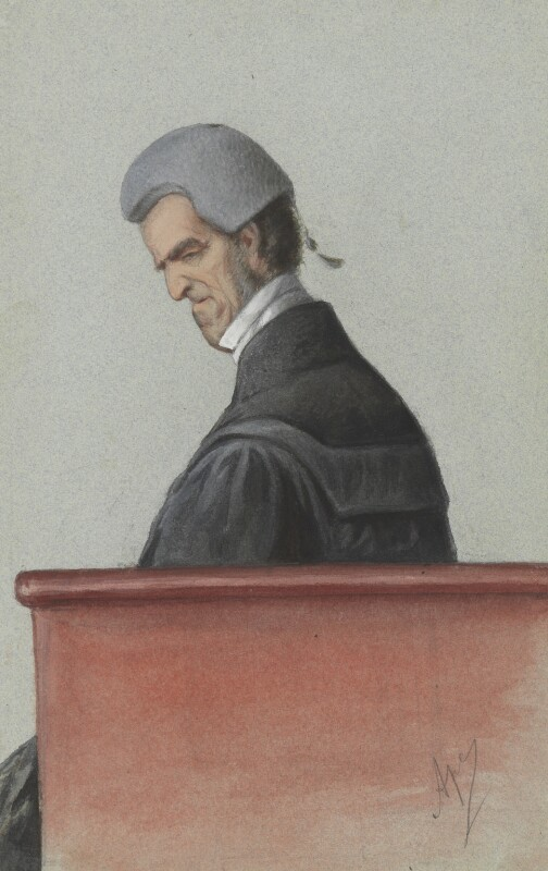 Sir John George Shaw-Lefevre, by Carlo Pellegrini, published in Vanity Fair 1 July 1871 - NPG 2741 - © National Portrait Gallery, London