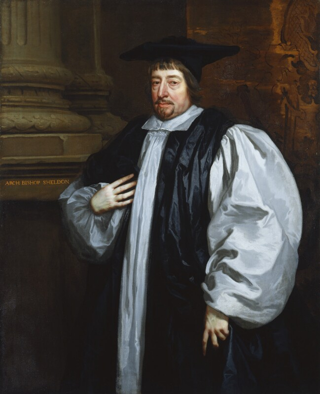 Gilbert Sheldon, studio of Sir Peter Lely, based on a work of circa 1665 - NPG 1837 - © National Portrait Gallery, London