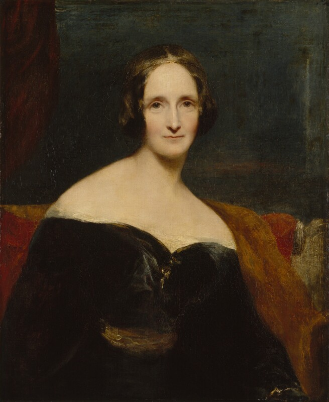 Mary Wollstonecraft Shelley, by Richard Rothwell, exhibited 1840 - NPG 1235 - © National Portrait Gallery, London