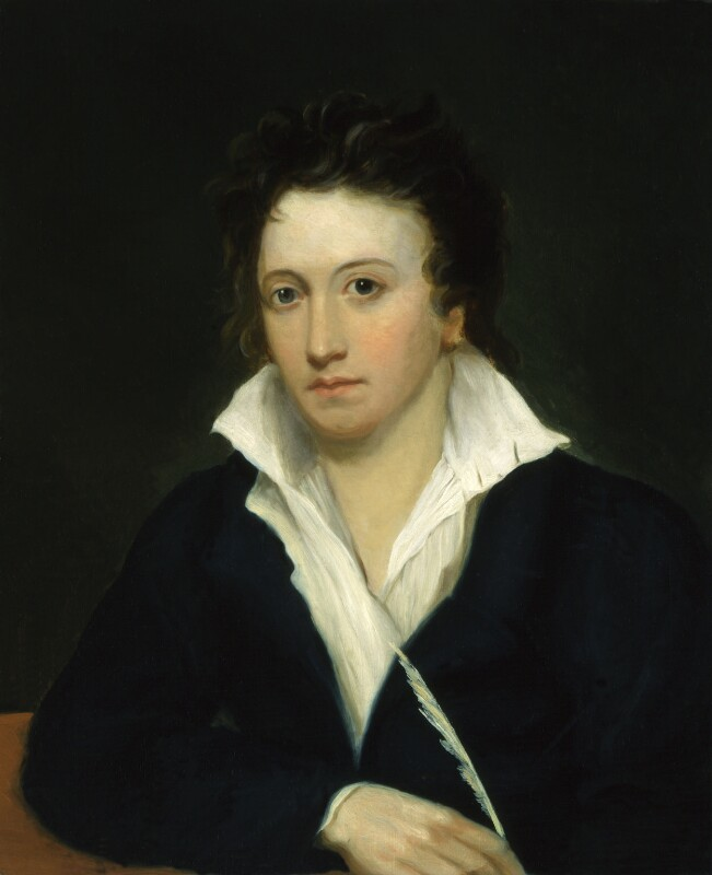 Percy Bysshe Shelley, by Alfred Clint; Amelia Curran; Edward Ellerker Williams, circa 1829, based on a work of 1819 -NPG 1271 - © National Portrait Gallery, London