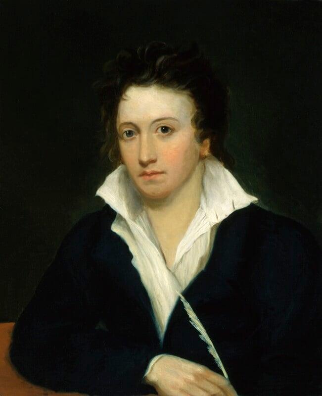 Percy Bysshe Shelley, by Alfred Clint; Amelia Curran; Edward Ellerker Williams, circa 1829, based on a work of 1819 -NPG 1271 - © National Portrait Gallery, London