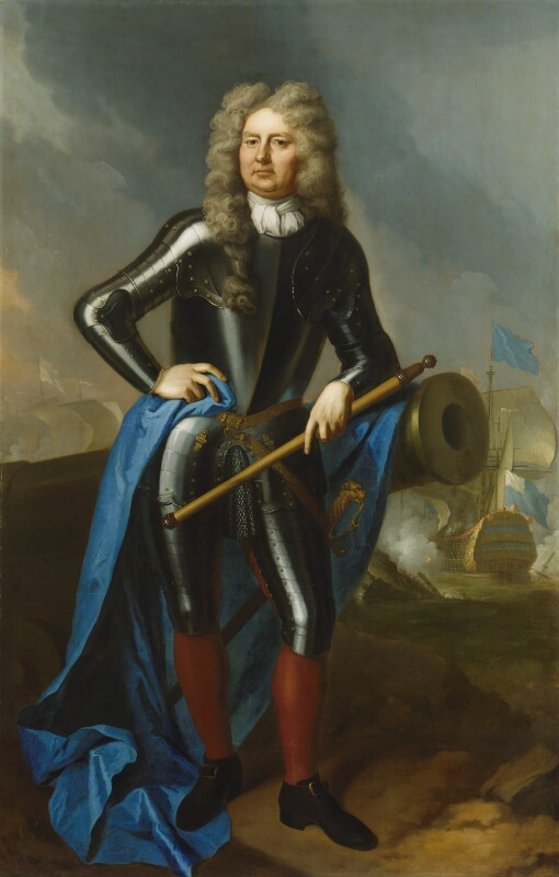 Sir Cloudesley Shovell, by studio of Michael Dahl, circa 1702, based on a work of circa 1702 -NPG 797 - © National Portrait Gallery, London