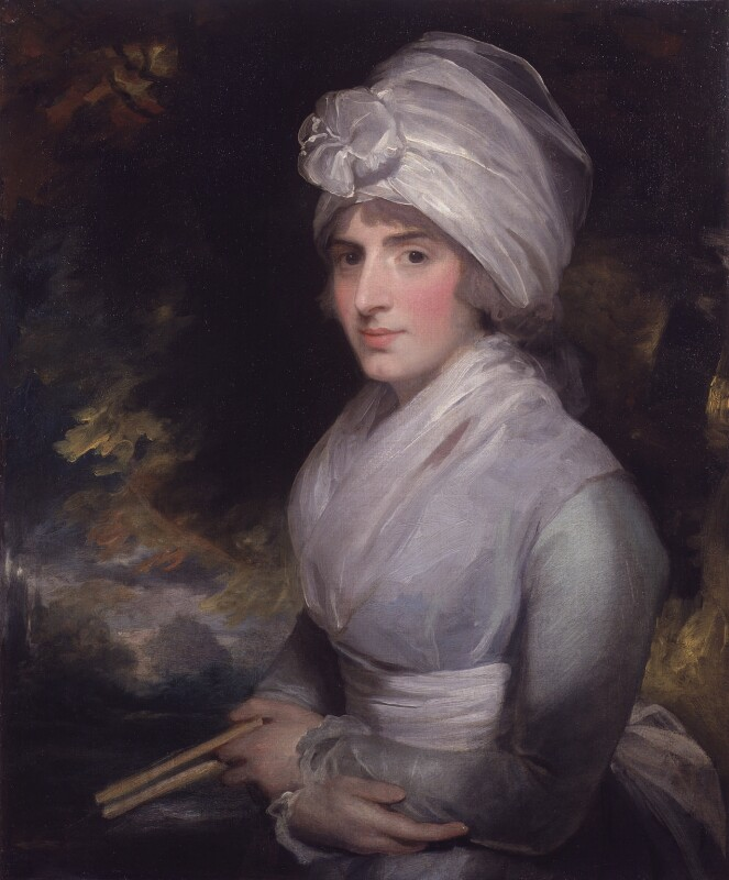 Sarah Siddons (née Kemble), by Gilbert Stuart, 1787 - NPG 50 - © National Portrait Gallery, London