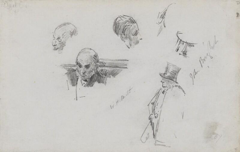 William Henry Smith; John Bright, by Sydney Prior Hall, 1887 - NPG 2322 - © National Portrait Gallery, London