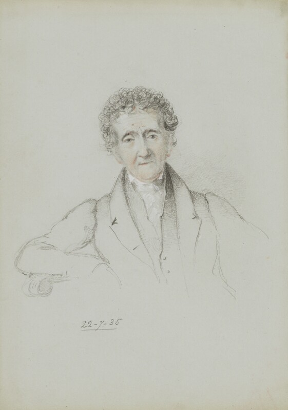 Sir John Soane, by William Brockedon, 1835 -NPG 2515(76) - © National Portrait Gallery, London