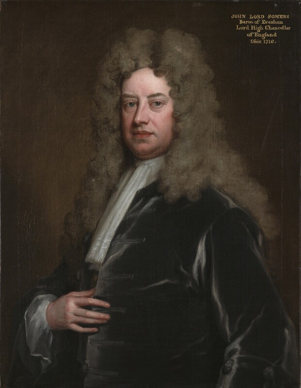 John Somers, Baron Somers, by Sir Godfrey Kneller, Bt, circa 1705 - NPG 490 - © National Portrait Gallery, London