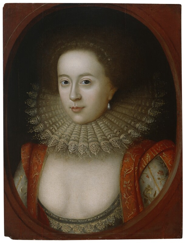 Frances, Countess of Somerset, studio of William Larkin, circa 1615 - NPG 1955 - © National Portrait Gallery, London