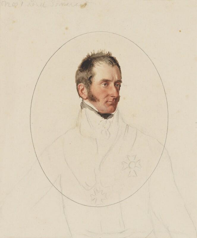 Lord Robert Edward Somerset, by Thomas Heaphy, 1813-1814 -NPG 1914(15) - © National Portrait Gallery, London