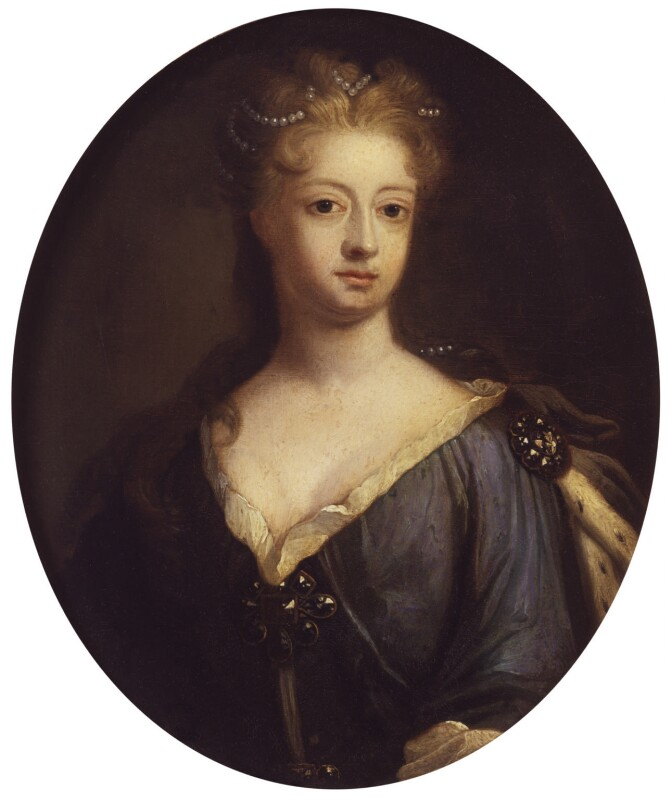 Sophia Dorothea, Queen of Prussia, by Johann Leonhard Hirschmann, 1706, based on a work of circa 1706 -NPG 489 - © National Portrait Gallery, London