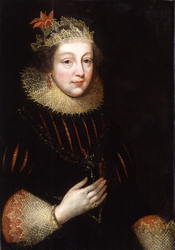 Elizabeth Wriothesley (née Vernon), Countess of Southampton, by Unknown artist, circa 1620 - NPG 570 - © National Portrait Gallery, London
