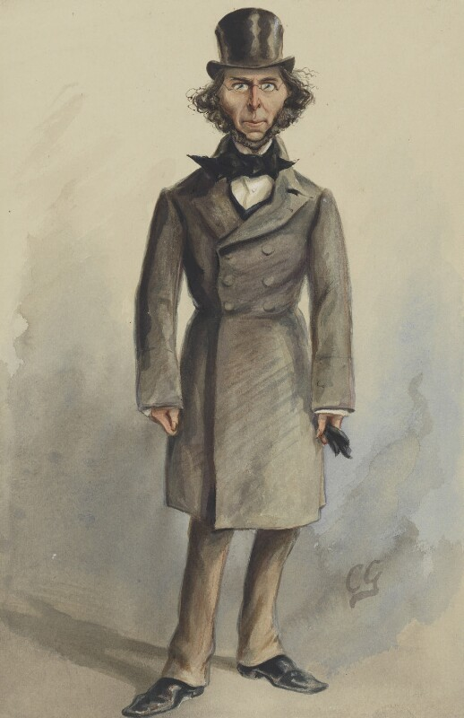 Herbert Spencer, by Sir Francis Carruthers Gould ('F.C.G.'), published in Vanity Fair 26 April 1879 - NPG 2601 - © National Portrait Gallery, London