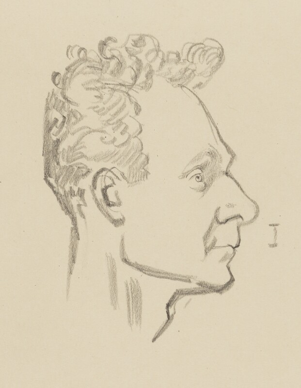 Stephen Spender, by Sir David Low, 1952 or before - NPG 4529(337) - © Solo Syndication Ltd