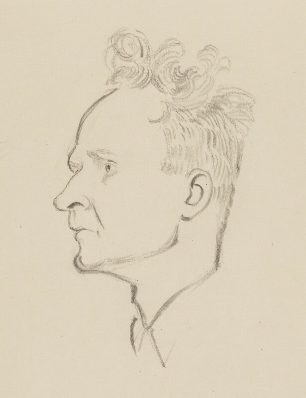 Stephen Spender, by Sir David Low, 1952 or before - NPG 4529(338) - © Solo Syndication Ltd