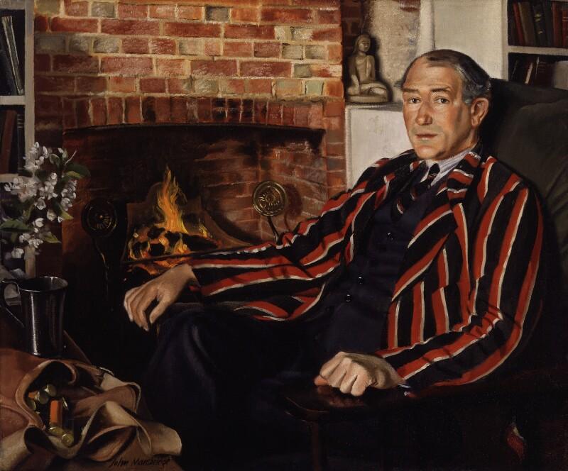 Sir John Collings Squire, by John Mansbridge, 1932-1933 - NPG 4110 - © National Portrait Gallery, London