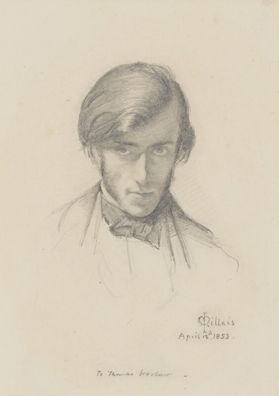 Frederic George Stephens, by Sir John Everett Millais, 1st Bt, 1853 -NPG 2363 - © National Portrait Gallery, London