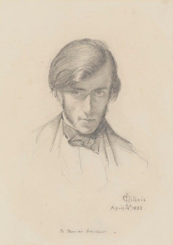 Frederic George Stephens, by Sir John Everett Millais, 1st Bt, 1853 - NPG 2363 - © National Portrait Gallery, London