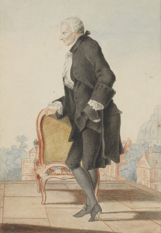Laurence Sterne, by Louis Carrogis ('Louis de Carmontelle'), circa 1762 -NPG 2785 - © National Portrait Gallery, London