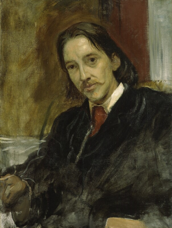 Robert Louis Stevenson, by Sir William Blake Richmond, 1887 - NPG 1028 - © National Portrait Gallery, London