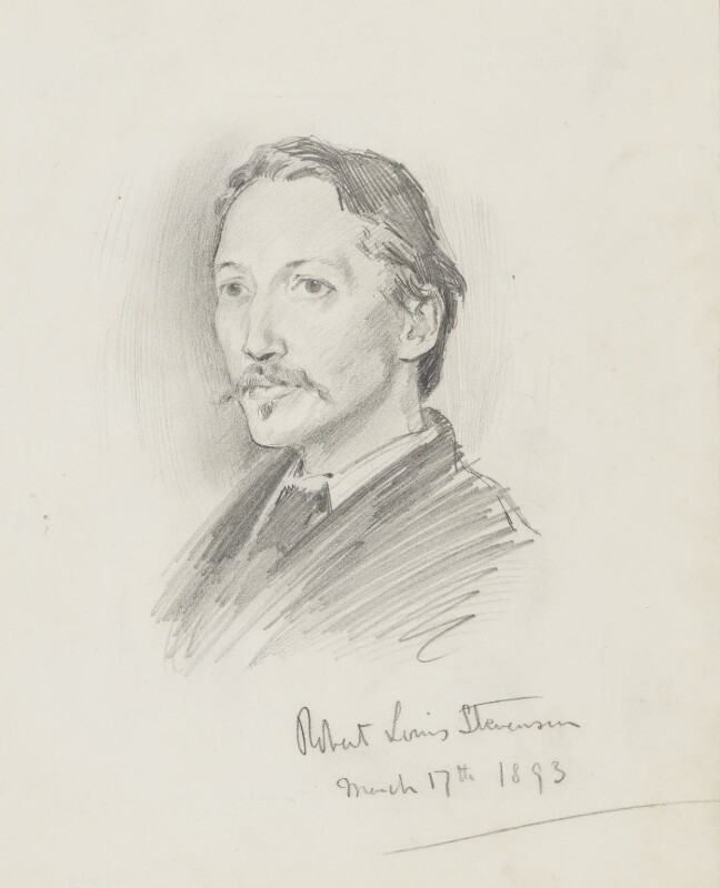 Robert Louis Stevenson, by Percy Frederick Seaton Spence, 1893 - NPG 1184 - © National Portrait Gallery, London