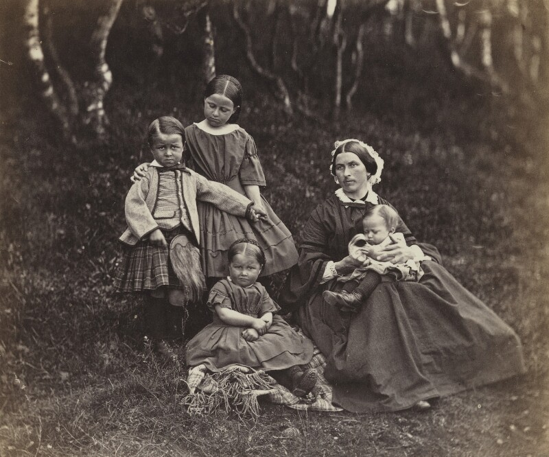 Mrs Donald Stewart and her children, by George Washington Wilson, 1861 - NPG P22(26) - © National Portrait Gallery, London