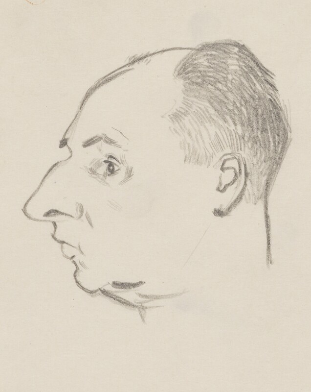 John Strachey, by Sir David Low, 1949 or before - NPG 4529(342) - © Solo Syndication Ltd