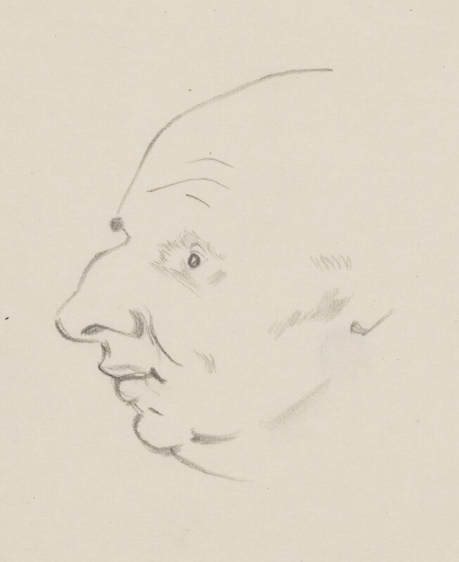 John Strachey, by Sir David Low, 1949 or before - NPG 4529(343) - © Solo Syndication Ltd