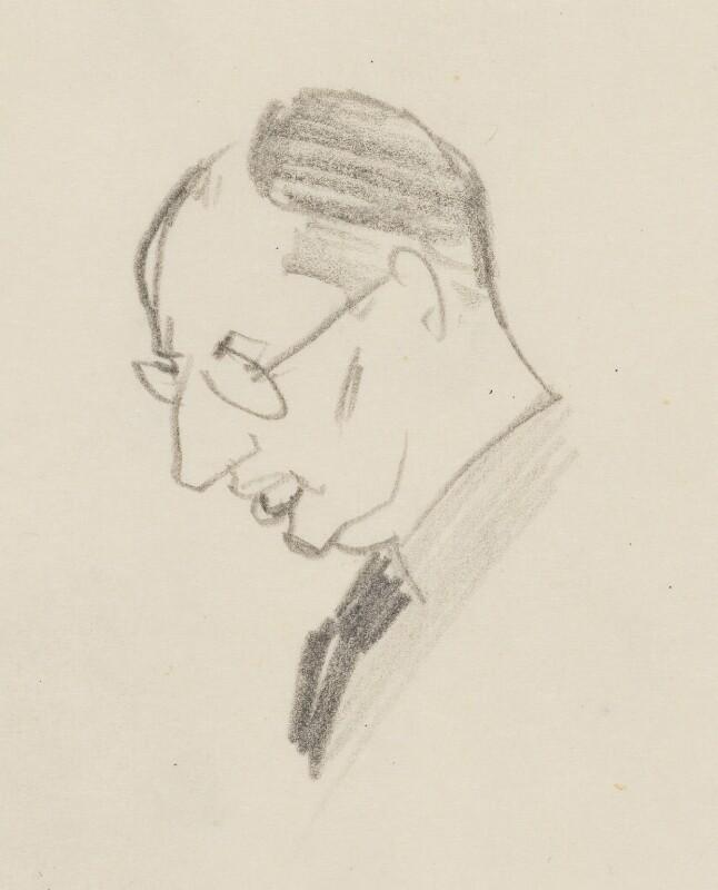 John Strachey, by Sir David Low, circa 1945-1950 - NPG 4529(343a) - © Solo Syndication Ltd
