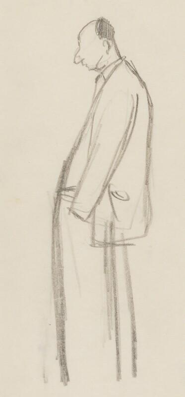 John Strachey, by Sir David Low, circa 1945-1950 - NPG 4529(344) - © Solo Syndication Ltd