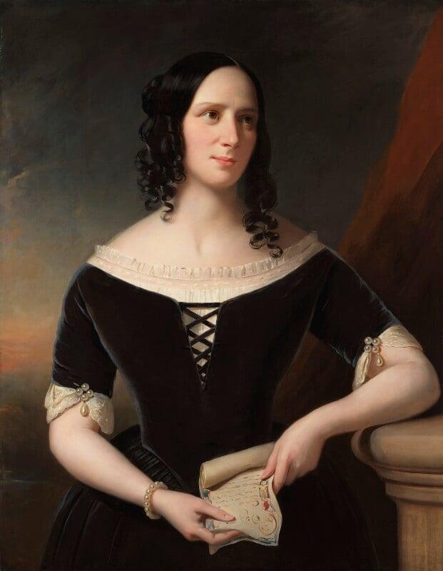 Agnes Strickland, by John Hayes, 1846 - NPG 403 - © National Portrait Gallery, London