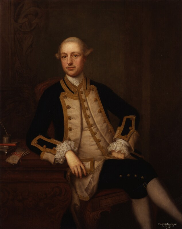 Maurice Suckling, by Thomas Bardwell, 1764 - NPG 2010 - © National Portrait Gallery, London